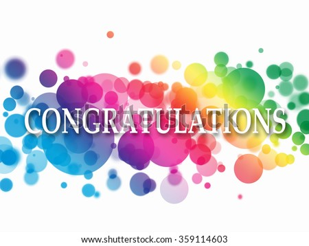 congratulations sign colorful de focused light stock illustration