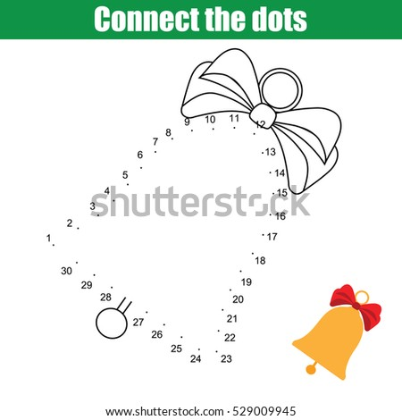 Connect Dots Children Educational Drawing Game Stock Illustration