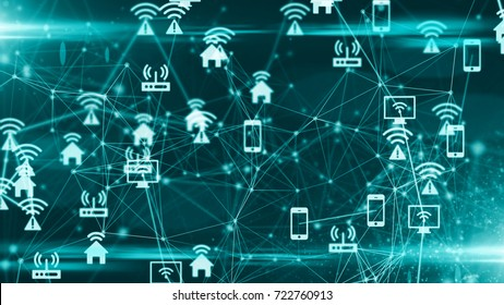 Connected devices Internet of things IoT cloud computing fintech data network technology