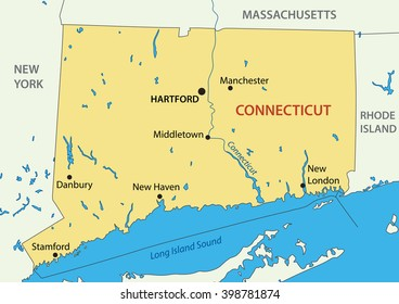 Connecticut Map Images Stock Photos Vectors Shutterstock