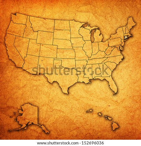 Connecticut On Old Vintage Map Usa Stock Illustration 152696036 ...