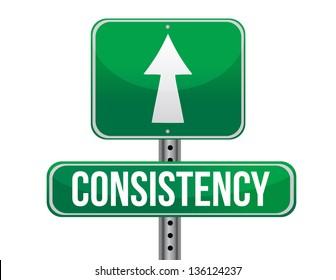 consistency road sign illustration design over a white background