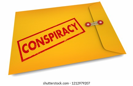 Conspiracy Theory Collusion Envelope 3d Illustration