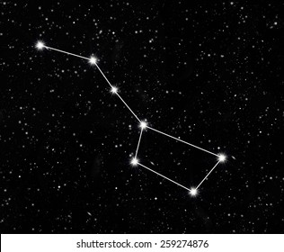 constellation great Bear against the starry sky