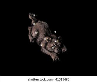 Constellation The Little Bear (Ursa Minor)