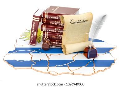 Constitution of Uruguay concept, 3D rendering