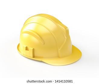 Construction Hard Hat , Isolated on white , 3d render
