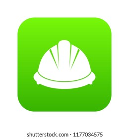 Construction helmet icon digital green for any design isolated on white illustration