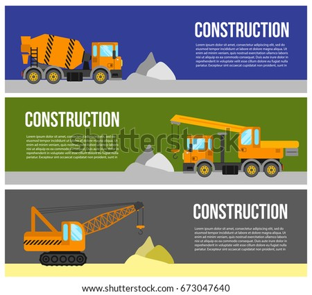 Construction Equipment Banners Coloring Banners