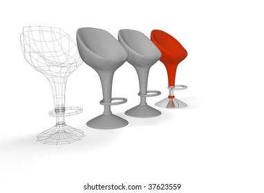 construction of a modern chair