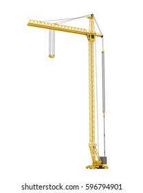 Construction Tower Crane. 3D rendering