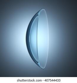 contact lenses lens, 3D illustration