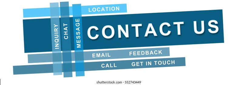 Contact Us Blue Stripes