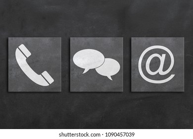 Contact us concept on blackboard