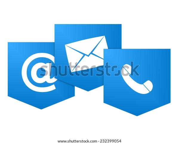 Contact us icon symbol design