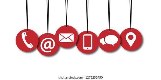 Contact us symbols Social Media network icons icon contact us email at mobile signs sign fun funny talk Network digital technology People  connect business digital school whatsapp mail red