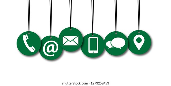 Contact us symbols Social Media network icons icon contact us email at mobile signs sign fun funny talk Network digital technology People  connect business digital school whatsapp mail green
