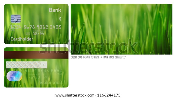 Contactless Credit Card Design High Resolution Stock