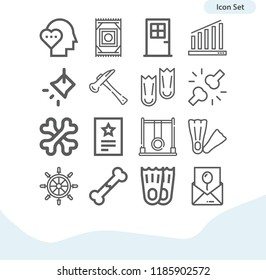 Contains such icons as invitation, bone, bones, door, graph, swing, love, hammer, flippers, flipper, rudder, carpet and more.  1000x1000 pixel perfect.