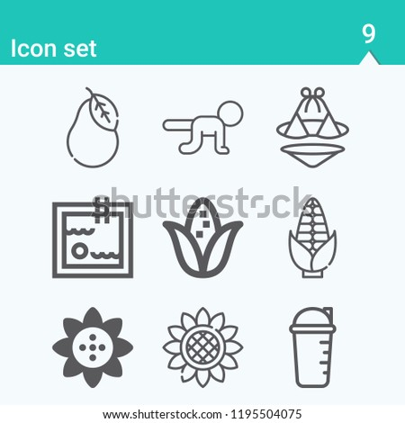 Contains Such Icons Swimming Suit Swimming Stock Illustration