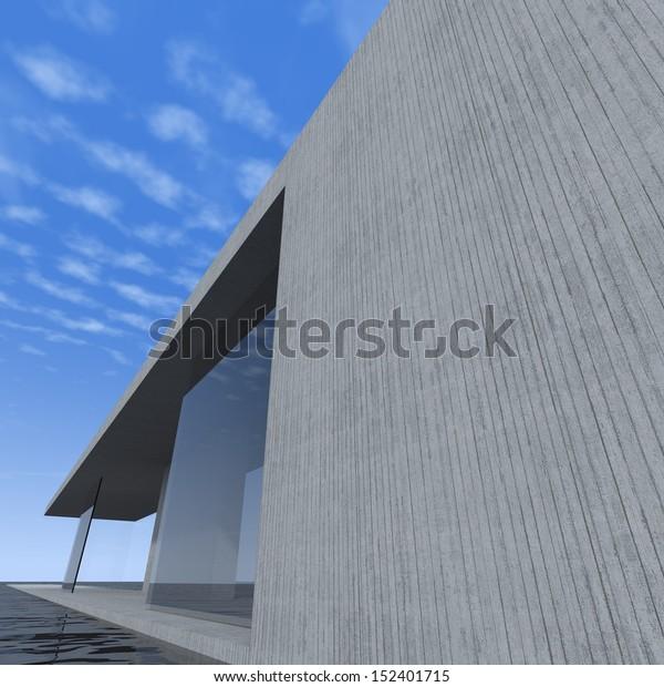 Contemporary Architecture Stock Illustration 152401715