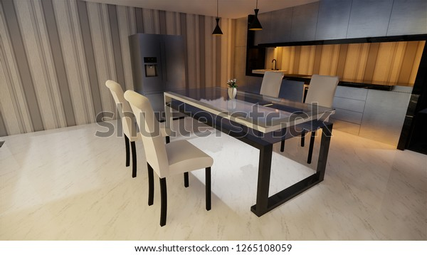 Wondrous Contemporary Kitchen Dining Room Display Cabinet Stock Home Interior And Landscaping Ferensignezvosmurscom