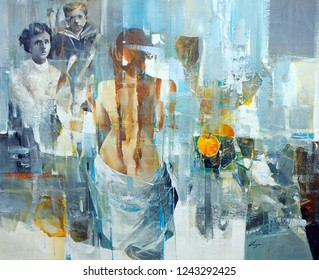 Contemporary modern painting