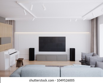 Contemporary style living room render