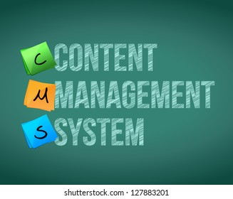 Content Management System illustration design over a white background