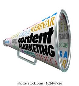 Content Marketing Bullhorn Megaphone Customer Communication