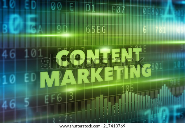 Content marketing concept green background green text