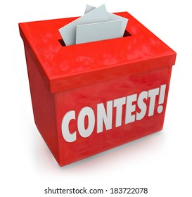 Contest Entry Form Box Enter to Win Jackpot Prize