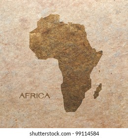 continent of africa on old paper