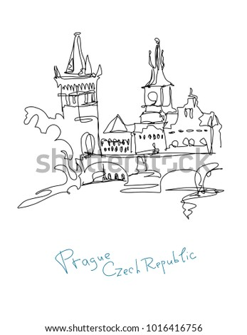 Royalty Free Stock Illustration Of Continuous Line Drawing Prague