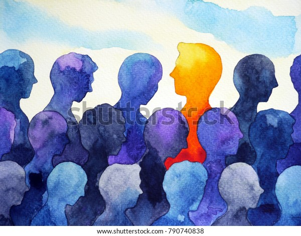 contrast different bright human watercolor painting design