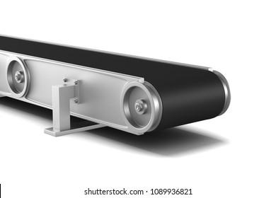 conveyor on white background. Isolated 3D illustration