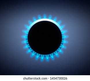 Cooker on natural gas, fossil fuel energy source