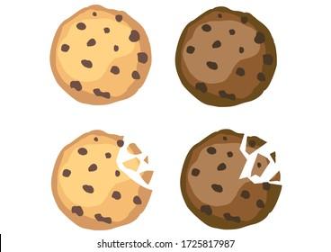 cookies bites vector choco chips