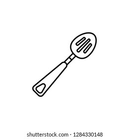 cooking spoon, skimmer, spatula icon. Element of kitchen utensils icon for mobile concept and web apps. Detailed cooking spoon, skimmer, spatula icon can be used for web and mobile