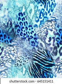 cool animal mix print ~ seamless background