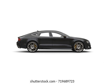 Cool black business car - side view - 3D Illustration