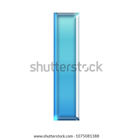 Cool Blue Glass Letter 3 D Illustration Stock Illustration