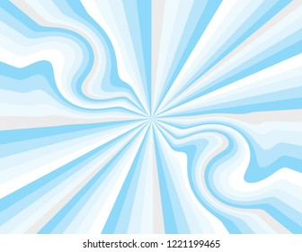 Cool blue winter magic abstract striped perspective with swirls and waves in blues, silver, and white.  Groovy, psychedelic christmas background.