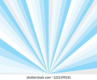 Cool blue winter magical abstract perspective burst. Christmas background.