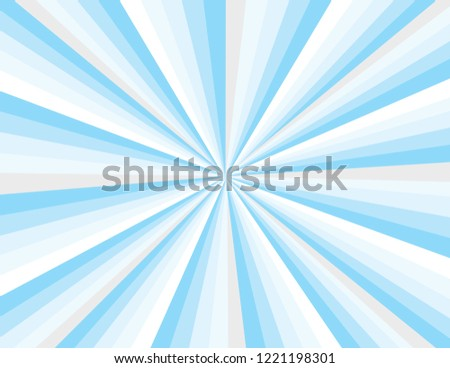 Cool blue winter magical abstract burst of rays. Perspective with concentration lines.  Groovy, psychedelic Christmas background.