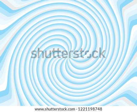 Cool blue winter magical abstract striped swirl. Groovy, psychedelic Christmas background.
