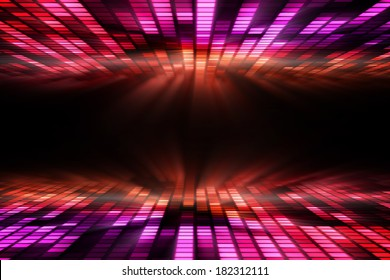Cool disco design in purple and red