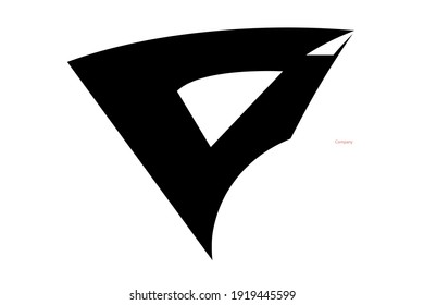 """Cool logo with a solid black """"D"""" base."""