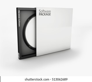 Cool Realistic Case for DVD Or CD Disk