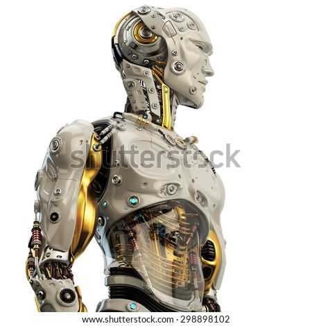 Cool Robot Upper Body Side View Stockillustration 298898102 ...